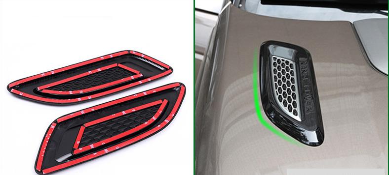 Воздухозаборники капота для Land Rover Range Rover Evoque 2015 - защита картера и кпп алюминиевая rival для land rover range rover evoque 2011