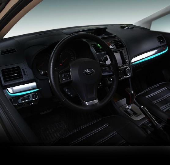 Декоративные молдинги на приборную панель для Subaru XV (2011 - 2017)