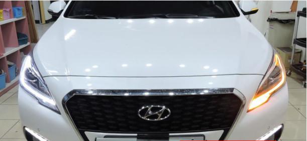 Окантовка светодиодная передних фар CHN для Hyundai Sonata 2017 - подсветка светодиодная зоны посадки высадки chn для hyundai sonata 2017