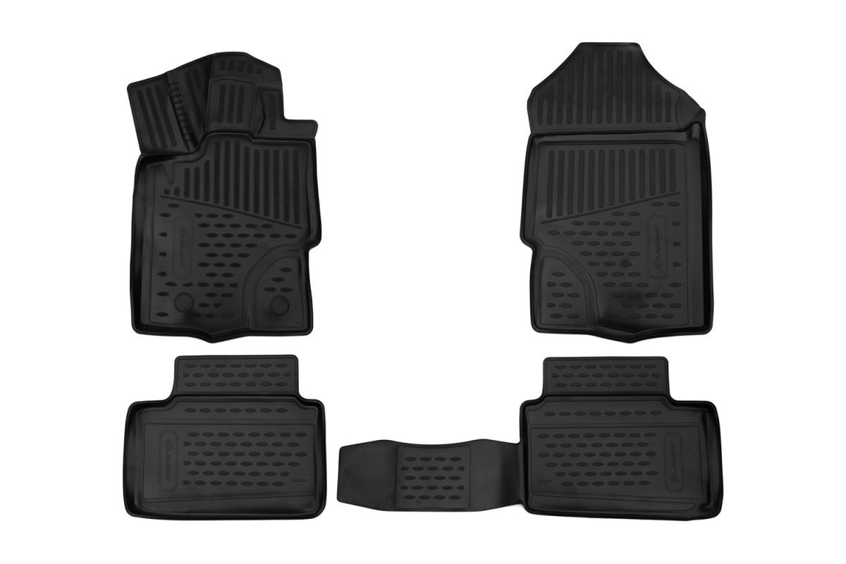 Коврики в салон Novline-Autofamily полиуретан черный ELEMENT3D5237210K Lada XRAY 2015-