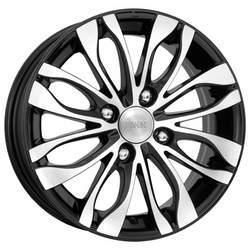Диск колесный K&K Канзаши 5 5xR14 4x100 ET39 ЦО56.6 черный глянцевый с полированной лицевой частью r14450