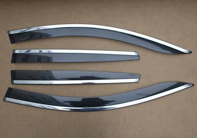 Дефлекторы боковых окон с нерж. молдингом, OEM Style OEM-Tuning BMTPJ0623 для Mitsubishi Pajero IV 2006-