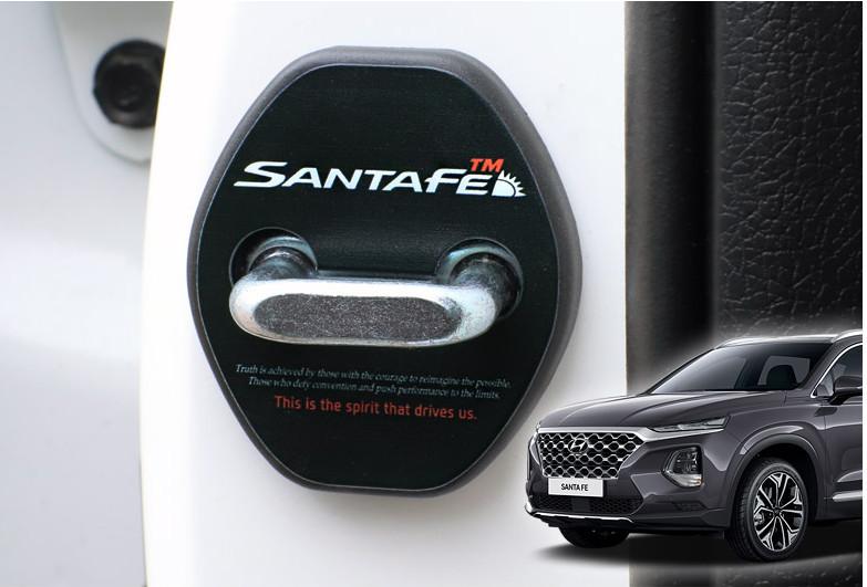 Крышки на петли дверных замков для Санта Фе 4 (Hyundai Santa Fe 2018 - 2019) крышки боковых зеркал mobis 127053 для санта фе 4 hyundai santa fe 2018 2019