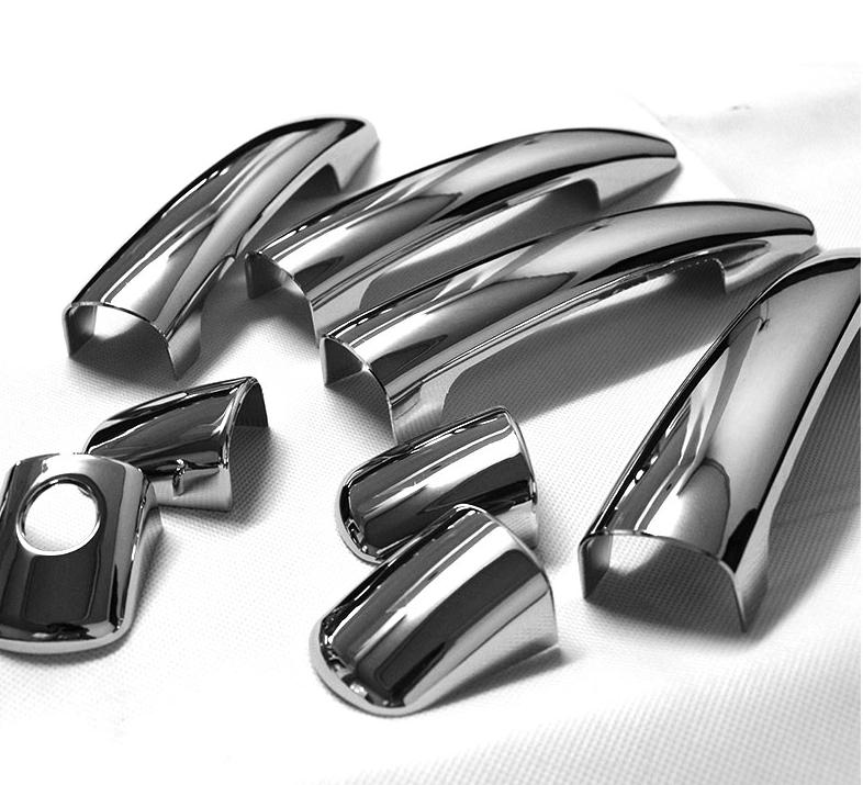 Хромированные накладки на ручки для Peugeot 3008 (2009 - 2014)