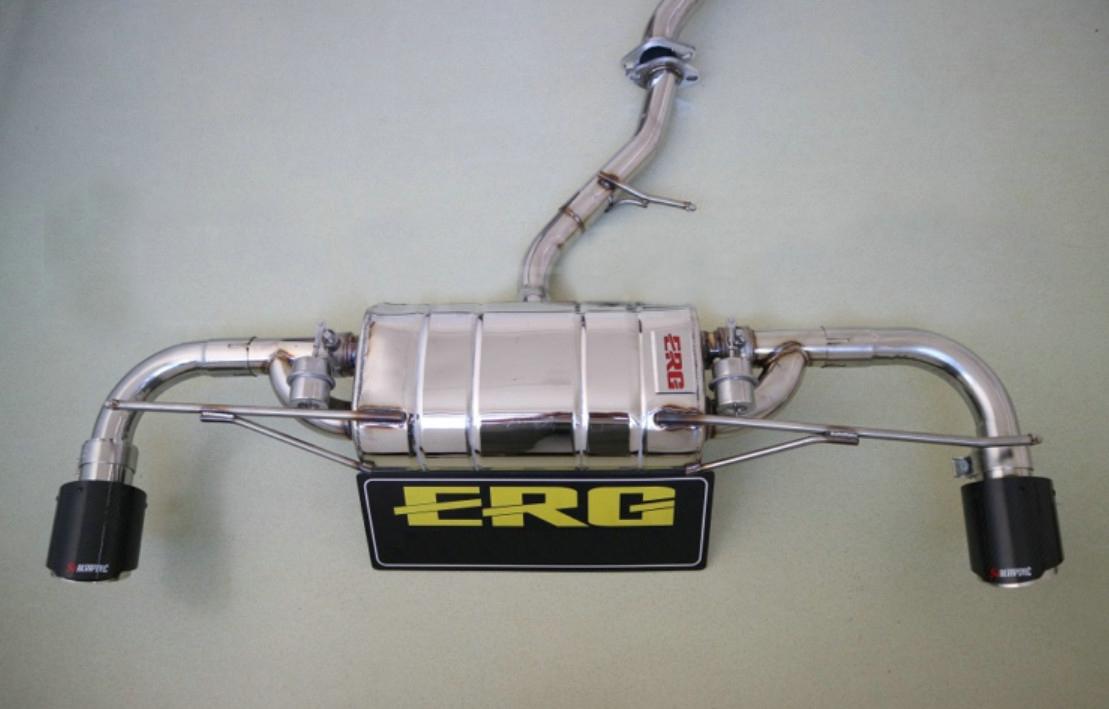 Выхлопная система с насадками и системой управления клапанами (двойной выхлоп) ERG для Geely Atlas 2018 -