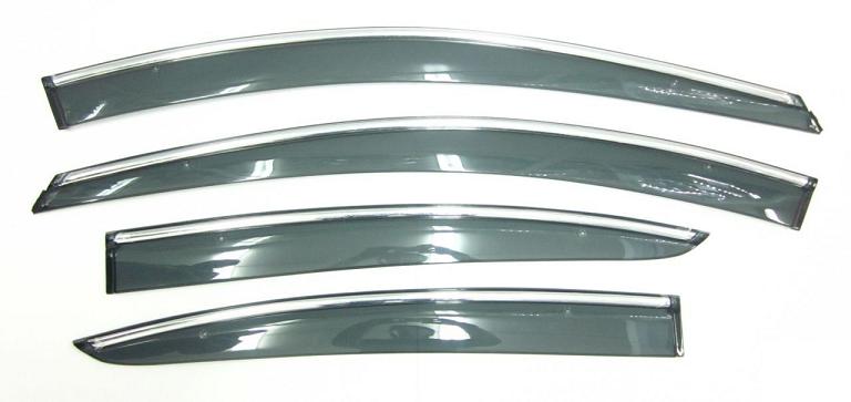 Фото - Дефлекторы окон с хром молдингом Cobra Tuning S22116CR для Skoda Kodiaq 2016 - дефлекторы окон с хром молдингом cobra tuning hyundai santa fe 4g 2018