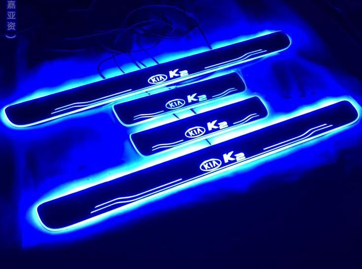 накладки на передние дверные пороги с led подсветкой kia b2f45ab010 для kia soul 2017 Накладки на пороги с подсветкой LED для KIA RIO 2017 -