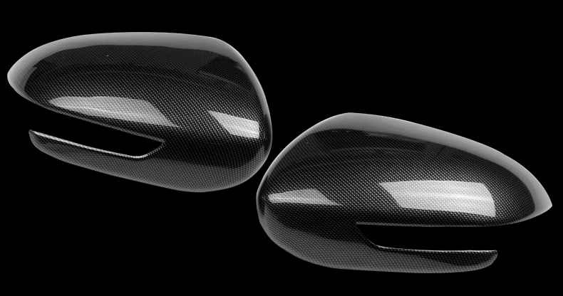 Карбоновые накладки на боковые зеркала kumansi для KIA Sportage IV 2016 -