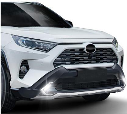 Обвес, Накладки на бампера CHN для Toyota RAV4 new (Тойота РАВ4) 2019 + накладки на дверные пороги полированные chn для toyota rav4 new тойота рав4 2019