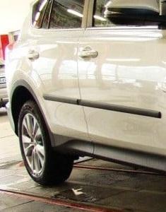 Комплект боковых молдингов Rider F-3 для Renault Duster 2011-