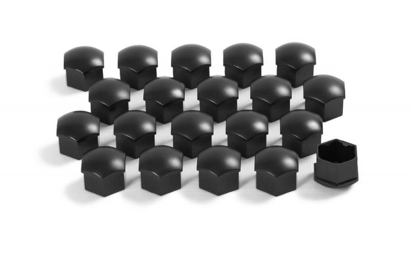 Колпачки на колесные болты (черный матовый) 1Z007121501C для Skoda Rapid 2020 -
