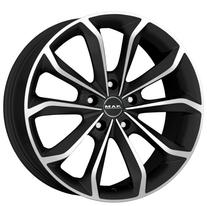 Диск колесный MAK Xenon 8,5xR20 5x127 ET35 ЦО71,6 черный матовый с полированной лицевой частью F8520XEIB35C3YX