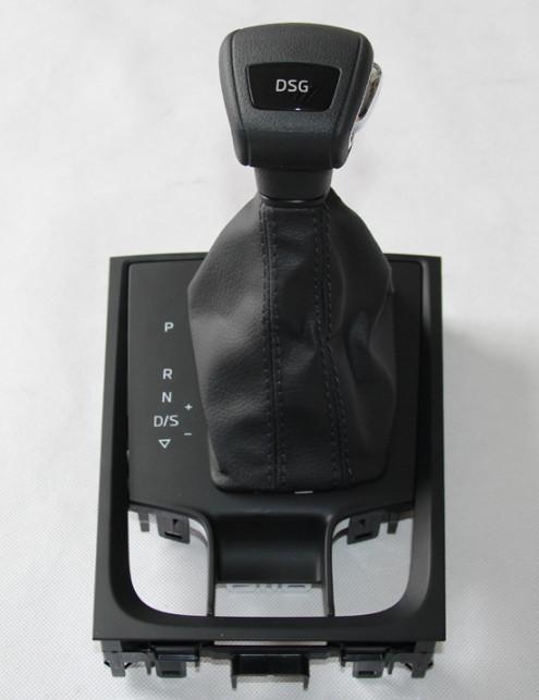 Ручка КПП с накладкой (кожа, черный, коричневый) Skoda Karoq 2020 (Шкода Карок) защита на 2 й ряд цвет черный коричневый надпись karoq chn skoda karoq 2020 шкода карок