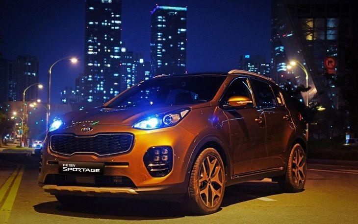 Фары головного света ксенон LED Hyundai / KIA для KIA Sportage IV 2016 - фары ксенон с дхо для kia sorento 2010 2017