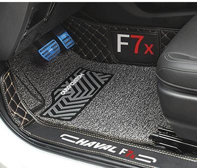 Фото - Коврики в салон кожаные Premium для Haval F7X (Хавал Ф7Х) 2019 + молдинг боковых окон хром для haval f5 хавал ф5 2019