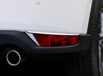 Хромированные уголки на задние катафоты CHN для Mazda CX-5 2017 - хромированные накладки на нижнюю часть боковых зеркал chn для mazda cx 5 2017