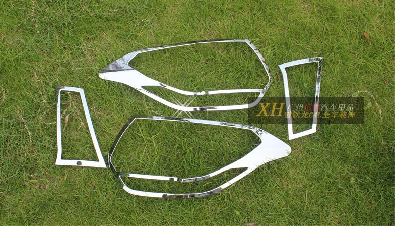 Хром накладки на задние фонари для Citroen C4 Седан 2013 - 2016