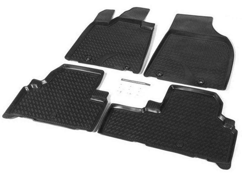 Коврики в салон Rival полиуретан черный 13201001 Lexus RX 2009-