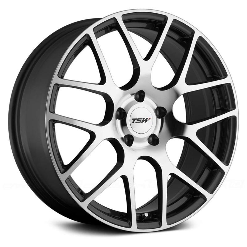 Диск колесный TSW Nurburgrin 7,5xR17 5x114,3 ET45 ЦО76 серый темный с полированной лицевой частью 1775NUR455114S76