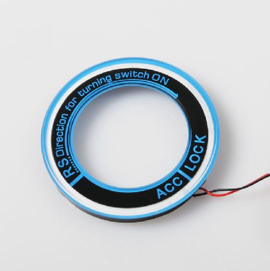 оплетка руля для ford ecosport 2013 2018 Накладка на замок зажигания с LED подсветкой и подключением к автомобилю для Ford EcoSport (2013 - 2018)