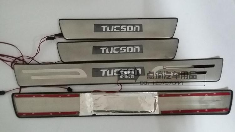 Накладки на пороги с подсветкой для Hyundai Tucson (2015- по н.в. ) накладки на пороги внешние и внутренние для hyundai tucson 2015 по н в