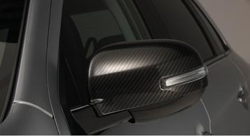 накладки на боковые зеркала хромированные chn для mitsubishi outlander 2012 2018 Накладки на боковые зеркала, карбоновые для Mitsubishi ASX (2013 - 2012)