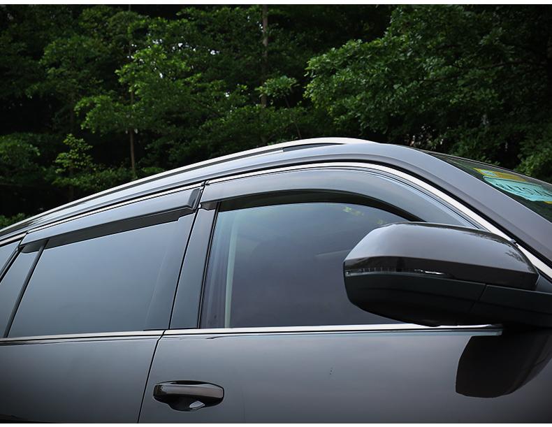 Дефлекторы боковых окон с хромированным молдингом CHN для Volkswagen Teramont obd модуль автоматического закрытия окон и люка chn для volkswagen teramont 2017
