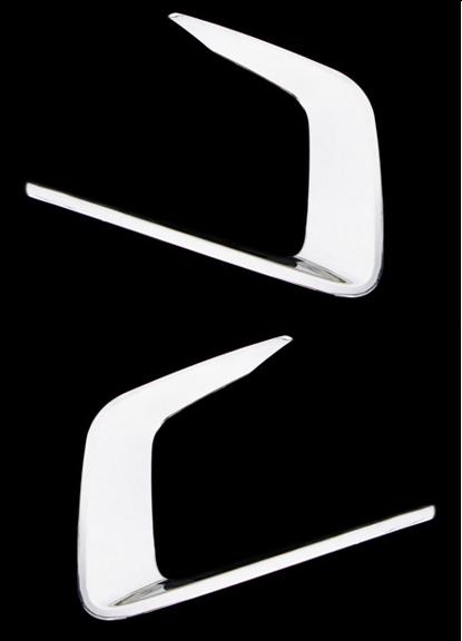 Хромированные накладки на противотуманные фары CHN для Hyundai Creta 2016, 2017, 2018, 2019 хромированные накладки на противотуманные фары chn 37487 для skoda kodiaq 2017 по н в