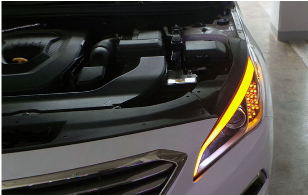 Светодиодная бровь передней фары CHN для Hyundai Sonata 2017 - подсветка светодиодная зоны посадки высадки chn для hyundai sonata 2017