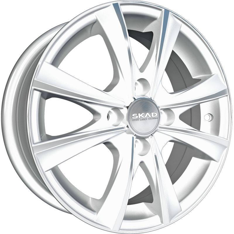 Диск колесный СКАД Мальта 6xR15 4x114,3 ET45 ЦО67,1 белый с полированной лицевой частью 1640524