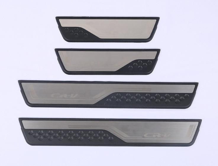 накладки на дверные пороги с led подсветкой bnx170249 для renault koleos 2017 Накладки на дверные пороги с подсветкой для Honda CRV 2017 -