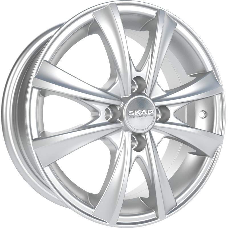 Диск колесный СКАД Мальта 5,5xR14 4x100 ET43 ЦО60,1 серебристый 2140208