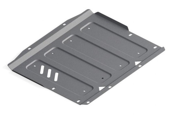 Защита КПП (алюминий) Rival 333.4044.1 для Mitsubishi Pajero IV 2006-