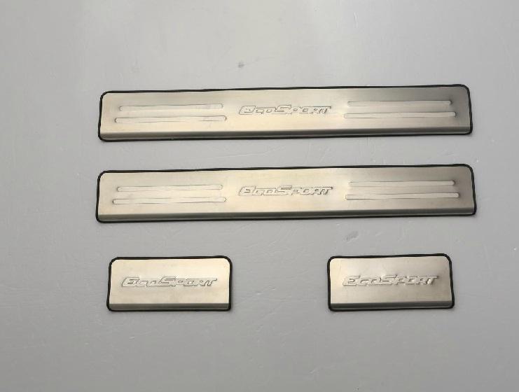 накладки на дверные пороги надписи ecosport для ford ecosport 2018 Защитные накладки на пороги для ECOSPORT