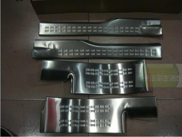 защитные накладки на внешние пороги cross chn для mitsubishi outlander 2012 2018 Накладки на пороги внутренние для Mitsubishi Outlander 2012 - 2018