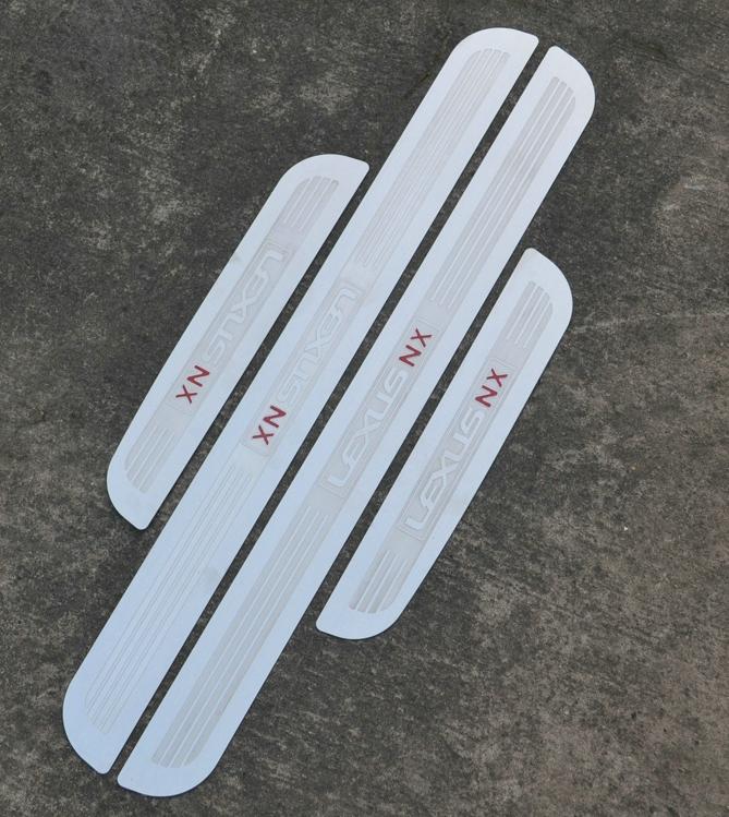 Накладки на пороги NX plate для Lexus (2014 - 2018)