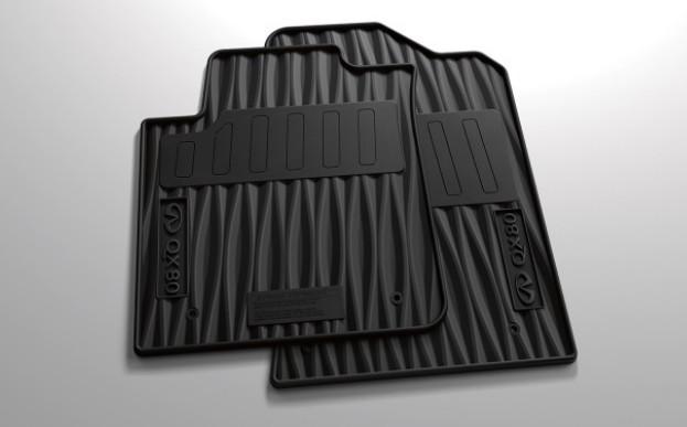 Коврики в салон Infiniti резина черный 999E136000 Infiniti QX80 (1G) рест. 2 2017-