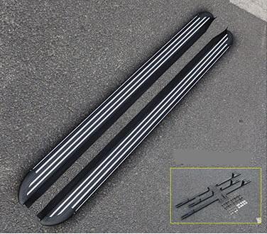 боковые подножки пороги bmw style алюминий rival d193al 5805 1 для volkswagen teramont 2017 Боковые пороги, подножки Haval H6 2021-
