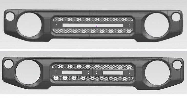 Решетка радиатора (черная) Srumto для Suzuki Jimny 2019 - силовой бампер perks для suzuki jimny 2019
