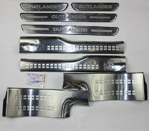 накладки на салонные ручки mitsubishi outlander 2012 Накладки на пороги (внешние и внутренние) Optimal для Mitsubishi Outlander 2012 - 2019