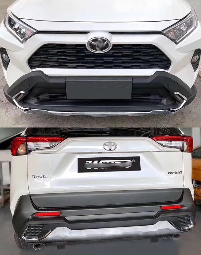 Обвес, накладки на передний и задний бампер для Toyota RAV4 (Тойота РАВ4) накладка на задний бампер нержавеющая сталь toyota pw178 42000 для toyota rav4 new тойота рав4 2019