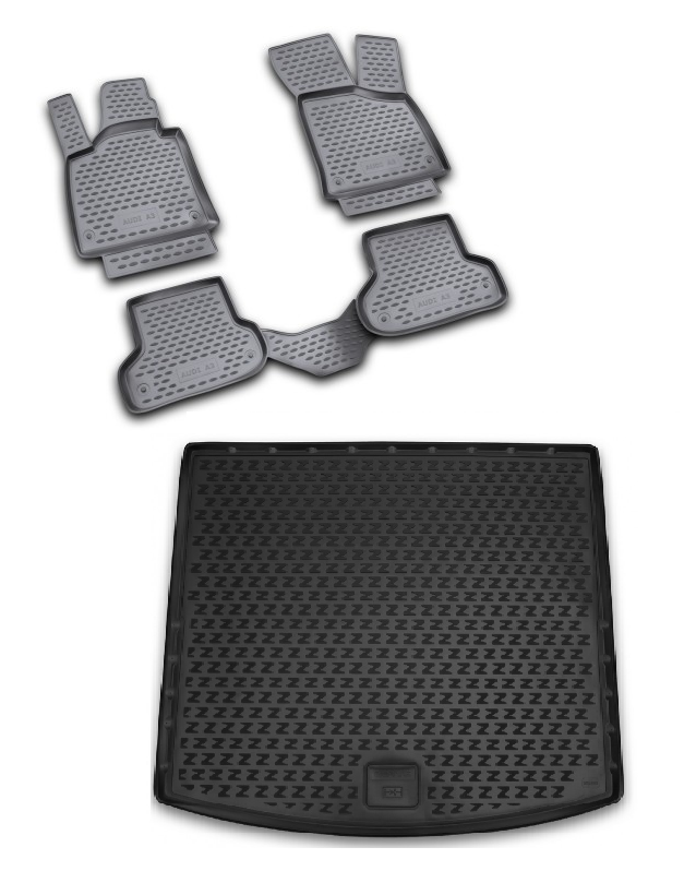 Коврик багажника Novline-Autofamily полиуретан черный ELEMENT10102B13 Zotye T600 2013-