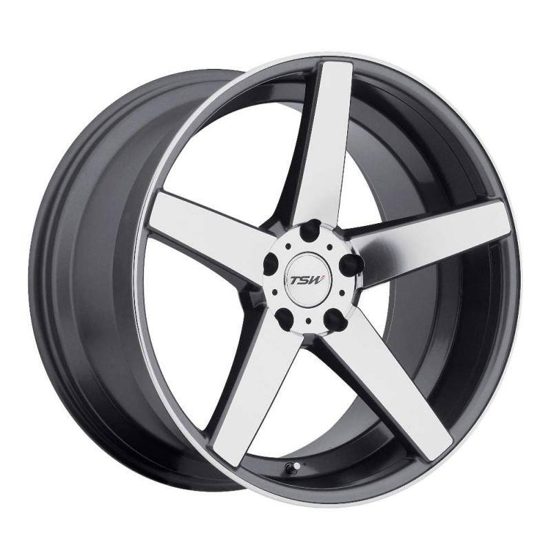 Диск колесный TSW Sochi 8xR19 5x114,3 ET35 ЦО76 серый глянцевый с полированной лицевой частью 1980SCH355114G76