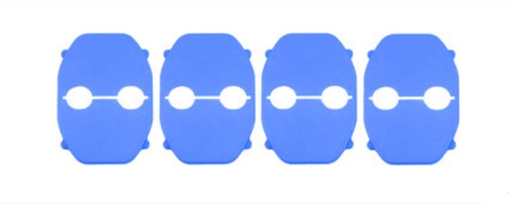 Накладка на дверной замок (синяя) Toyota RAV4 2019-