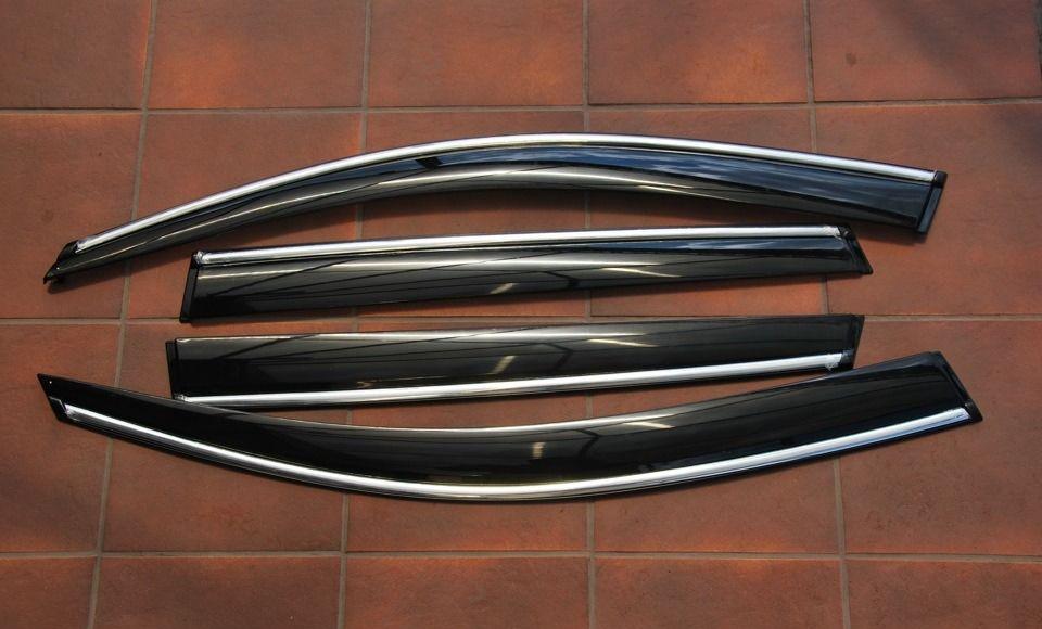 Дефлекторы боковых окон с хром молдингом Alvi-Style для OUTLANDER XL