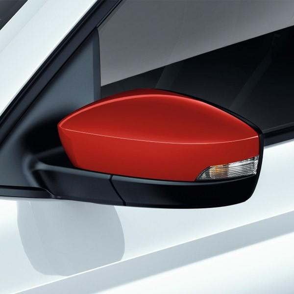 Накладки на боковые зеркала (красные) 6V0072530 для Skoda Rapid 2020 -