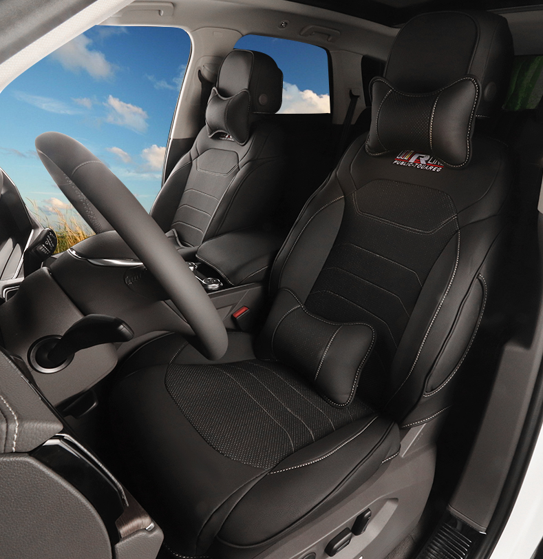 Чехлы накидки на сиденья кожаные для Volkswagen Touareg 2018, 2019