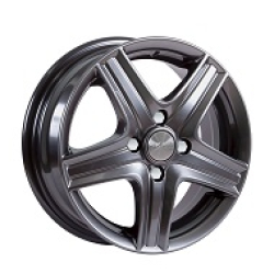 Диск колесный СКАД Магнум 5.5xR14 4x100 ET49 ЦО56.6 серый темный матовый 1460327