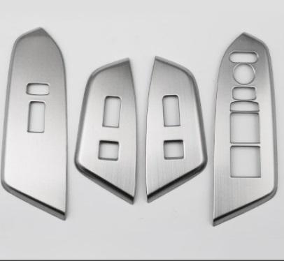 Накладки на кнопки стеклоподъемника с кнопкой Honda CRV 2020- накладки на дверные пороги с подсветкой для honda crv 2017
