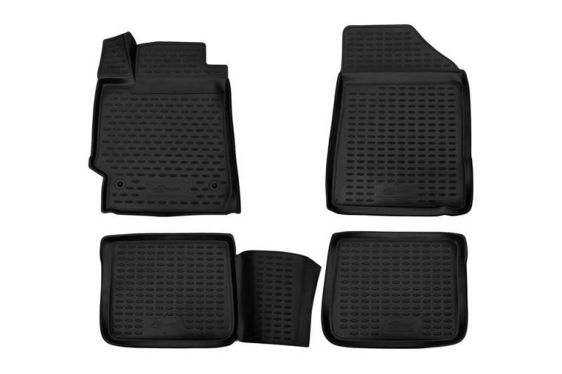 Коврики 3D в салон (черный полиуретан) Format FORMAT.3D.48.02.210k Toyota Camry 2006-